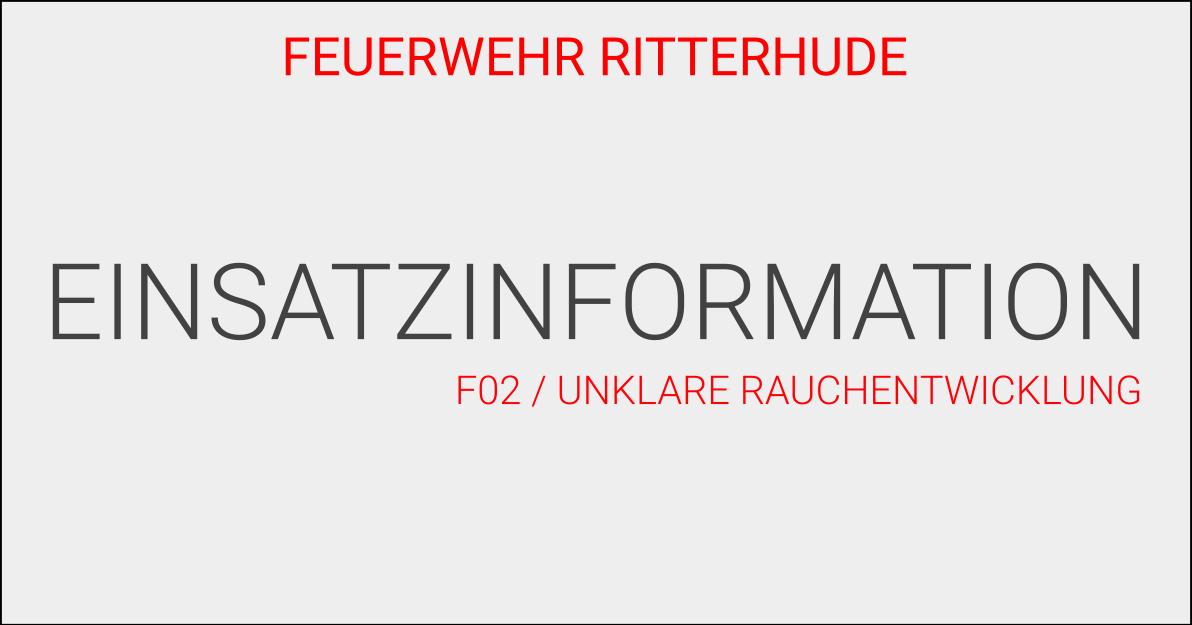 F02/UnklareRauchentwicklung