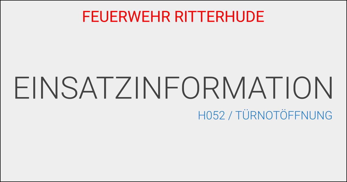 H052/Türnotöffnung