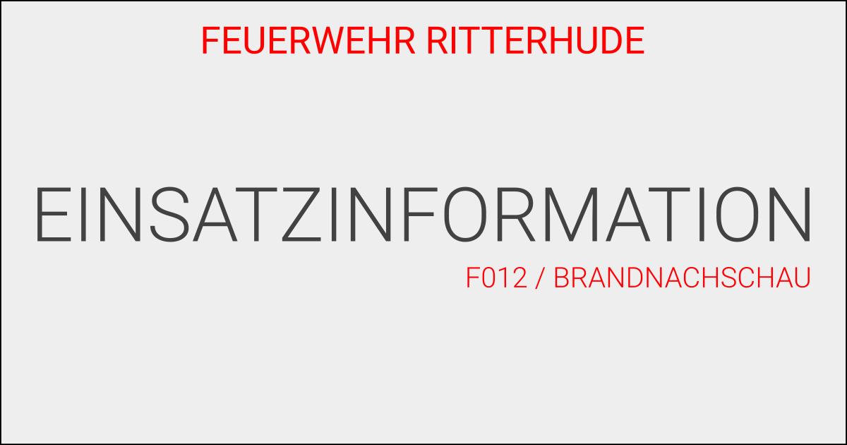F012/Brandnachschau